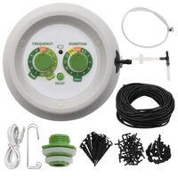 vidaXL Комплект за автоматично вътрешнокапково напояване с контролер
