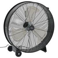 vidaXL Индустриален барабанен вентилатор, 77 см, 180 W, черен