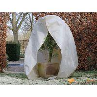 Nature Зимно поларено покривало с цип, 70 гр/м², бежово, 3x2,5x2,5 м