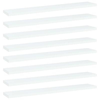 vidaXL Рафтове за етажерка, 8 бр, бели, 60x10x1,5 см, ПДЧ