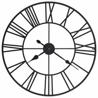 vidaXL Винтидж стенен часовник с кварцов механизъм, метал, 80 см, XXL