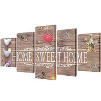 Декоративни панели за стена Home Sweet Home Design, 200 x 100 см