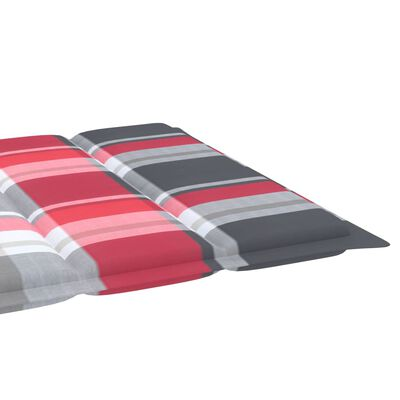vidaXL Шалте за шезлонг, червено каре, 200x50x4 см, текстил