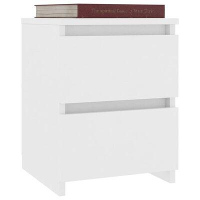 vidaXL Нощни шкафчета, 2 бр, бели, 30x30x40 см, ПДЧ