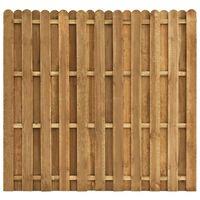 vidaXL Оградно пано вертикални дъски, борова дървесина, 180x170 см