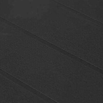 vidaXL Градинска маса, 150x90x72 см, пластмаса, ратанов вид, антрацит