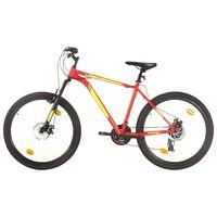 vidaXL Планински велосипед, 21 скорости, 27,5 цола, 42 см, червен