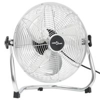 vidaXL Наземен вентилатор, 3 скорости, 40 см, 40 W, хромиран