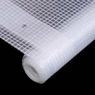 vidaXL Брезент тип Лено, 260 г/м², 3x20 м, бял