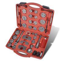 Комплект инструменти за смяна на накладки, 40 части общо