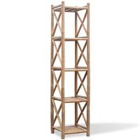 5-етажен квадратен рафт от бамбук