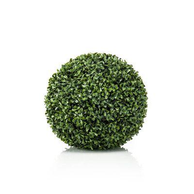 Emerald Изкуствена топка чемшир, UV защита, зелена, 28 см