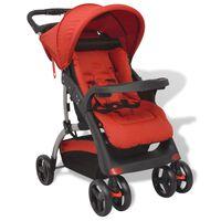 vidaXL Бебешка количка тип бъги, червена, 102x52x100 см