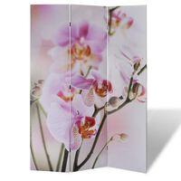 vidaXL Сгъваем параван за стая, 120x170 см, цвете