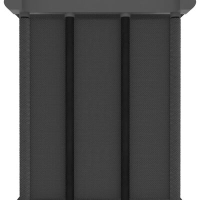 vidaXL Рафт с 12 кубични отделения, сив, 103x30x141 см, плат
