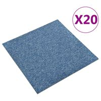 vidaXL Килимни плочки за под, 20 бр, 5 м², 50x50 см, сини