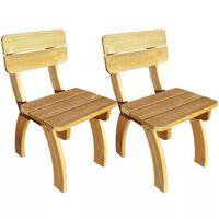 vidaXL Градински столове, 2 бр, импрегниран бор