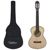 """vidaXL Комплект класическа китара за начинаещи деца от 8 части 1/2 34"""""""