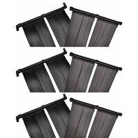 vidaXL Соларни панели за нагряване на басейн, 6 бр, 80x620 см
