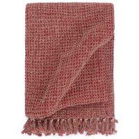 vidaXL Декоративно одеяло, памук, 125x150 см, бордо