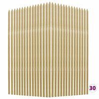 vidaXL Колчета за растения, 30 бр, 2,8x2,8x150 см, импрегниран бор