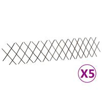 vidaXL Върбови огради хармоника, 5 бр, 180x30 см