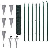 vidaXL Евромрежа, стомана, 10x1,5 м, зелена