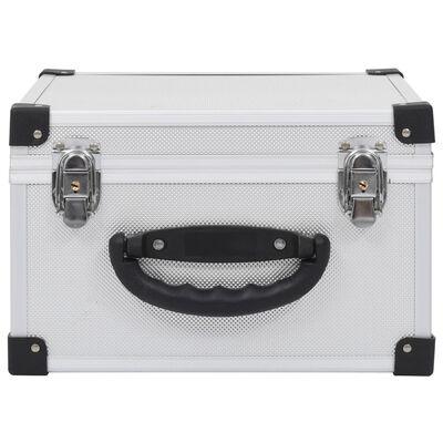 vidaXL CD куфар за 40 диска, алуминий, ABS, сребрист