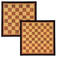 Abbey Game Дъска за шах и дама, 41x41 см, дърво, кафяво и бежово