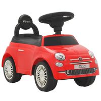 """vidaXL Детска кола за яздене """"Fiat 500"""" червена"""