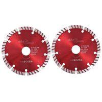 vidaXL Диамантени режещи дискове, 2 бр, турбо, стомана, 125 мм