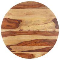 vidaXL Плот за маса, шишамово дърво масив, кръгъл, 15-16 мм, 60 cм
