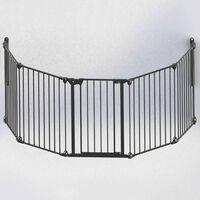 Noma Предпазна врата Modular, 5 панела, метал, черна, 94238
