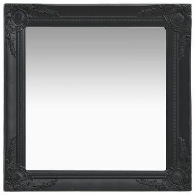 vidaXL Стенно огледало, бароков стил, 60х60 см, черно