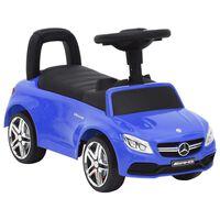 vidaXL Количка за бутане Mercedes Benz C63 синя
