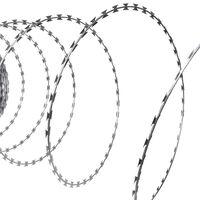 """vidaXL Режеща тел """"Хармоника"""", NATO, поцинкована стомана, 300 м"""