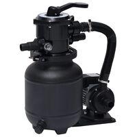 vidaXL Пясъчна филтърна помпа за басейн със 7 позиционен клапан, 18 л
