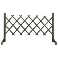 vidaXL Градинска оградна решетка, сива, 120x60 см, чам масив