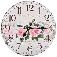 vidaXL Винтидж стенен часовник Цветя, 30 см