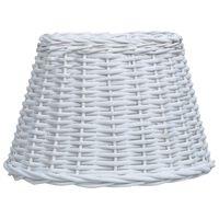 vidaXL Абажур, плетена ракита, 45x28 см, бял