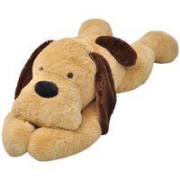 vidaXL Плюшена играчка куче, кафяв плюш, 80 см