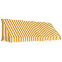 vidaXL Бистро сенник, 300х120 см, оранжево и бяло