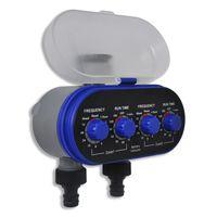 Електронен автоматичен таймер за поливане, двоен изход
