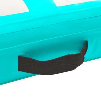 vidaXL Надуваем дюшек за гимнастика с помпа, 200x200x20 см, PVC, зелен