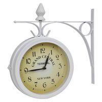 vidaXL Стенен часовник, двустранен, класически дизайн