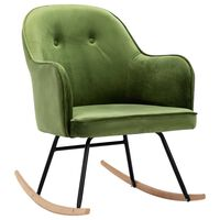 vidaXL Люлеещ стол, светлозелен, кадифе