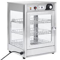 vidaXL Електрически гастронорм топла витрина 600 W неръждаема стомана