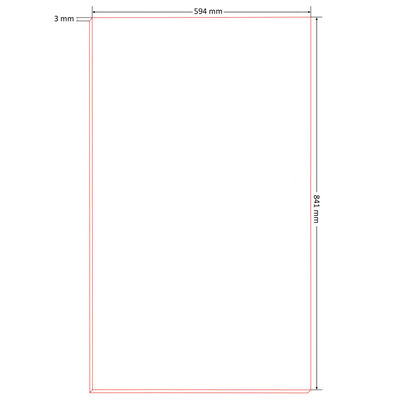 vidaXL 10 бр табла за плакати, размер DIN А1, HDF, 841x594x3 мм