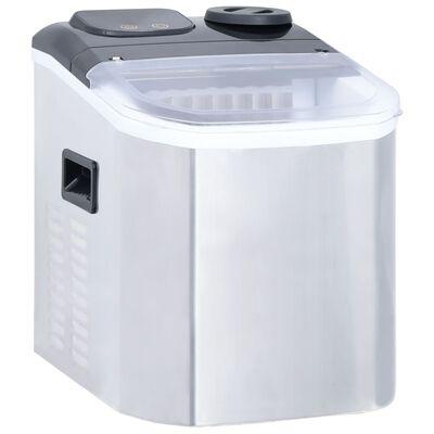 vidaXL Ледогенератор, неръждаема стомана, 20 кг/24 часа