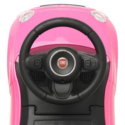 """vidaXL Детска кола за яздене """"Fiat 500"""" розова"""